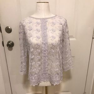 Nordstrom Sheer Lace Top